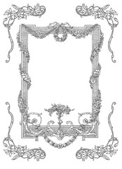 Cartouches set illustration