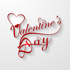 Valentine's day card with lettering text vector illustration