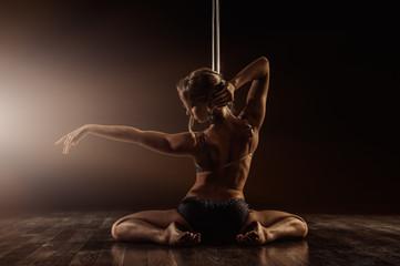 beautiful pole dance woman