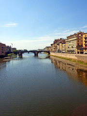 Florence, Italy . Quay of the river Arno