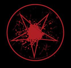 grunge satanic stamp