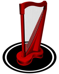 Small red Harp