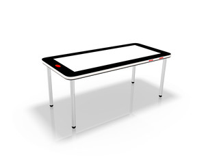 ein Tisch aus Smartphone und Pen