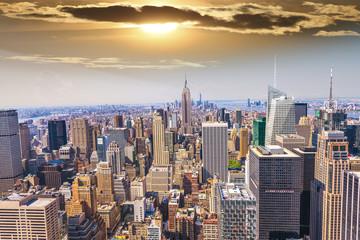 Fototapeta Beautiful view of  New York City skyline