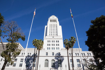 Los Angeles, California City Hall in Downtown LA.