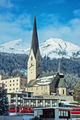 St. Johann Kirche in der Stadtmitte - Davos
