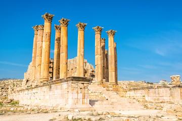 The temple of Artemis in Jerash, Jordan.