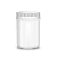 Blank medicine bottle isolated on white background, illustration