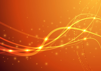 Orange power wave
