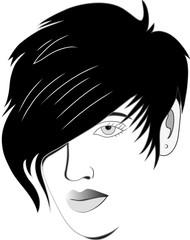 Hair style design illustration