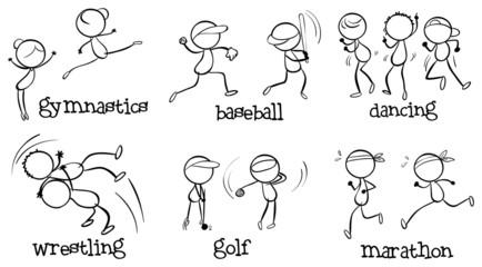 Different indoor and outdoor activities
