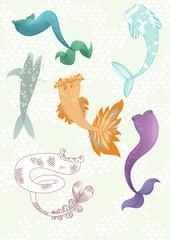 Set of Mermaids' Tails