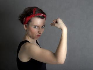 Wonder strong woman pin up