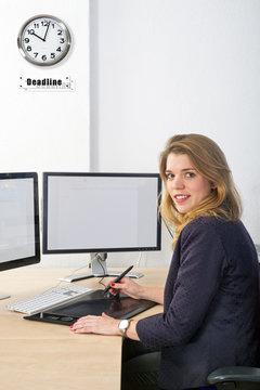 Designer on deadline