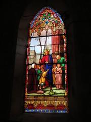 Marsilly - Vitrail XIX Eglise Saint-Pierre - Verset biblique