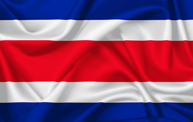 Flag of Costa rica waving with silky look