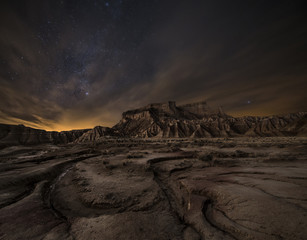 Keuken foto achterwand Chocoladebruin Night over the desert