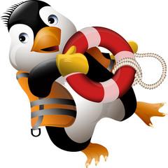 Penguin lifeguard