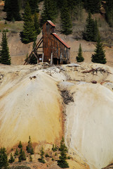 Ruins of Yankee girl mine, Red Mountain mining district, CO, USA