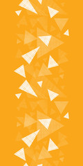 Vector yellow textured triangle vertical border seamless pattern