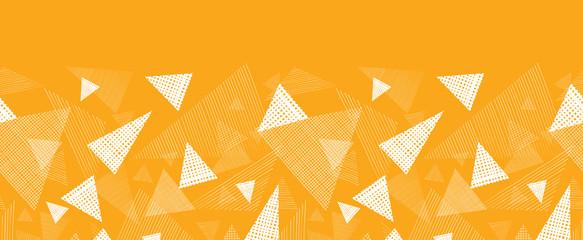Vector yellow textured triangle horizontal border seamless