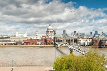 Poster London urban landscape with St. Paul's Cathedral