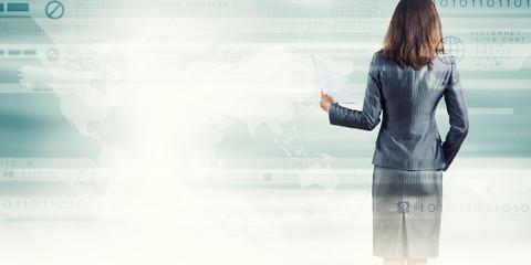 Woman secretary