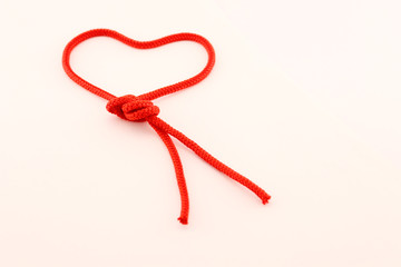 Heart of red cord