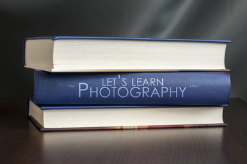 Let's learn photography. Book concept.