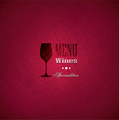 Wine menu cover for restaurants and bars