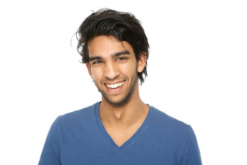 Handsome young indian man smiling Wall mural