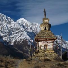 Stupa and Gangapurna