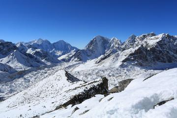 lobuche summit beside of everest from kallapather summit nepal