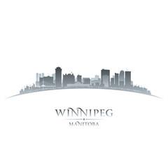 Winnipeg Manitoba Canada city skyline silhouette white backgroun