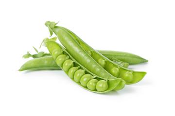 fresh organic young peas