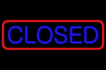 Neon Sign closed