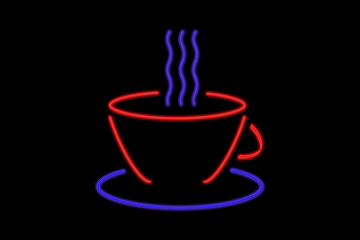 Neon Sign coffee cup