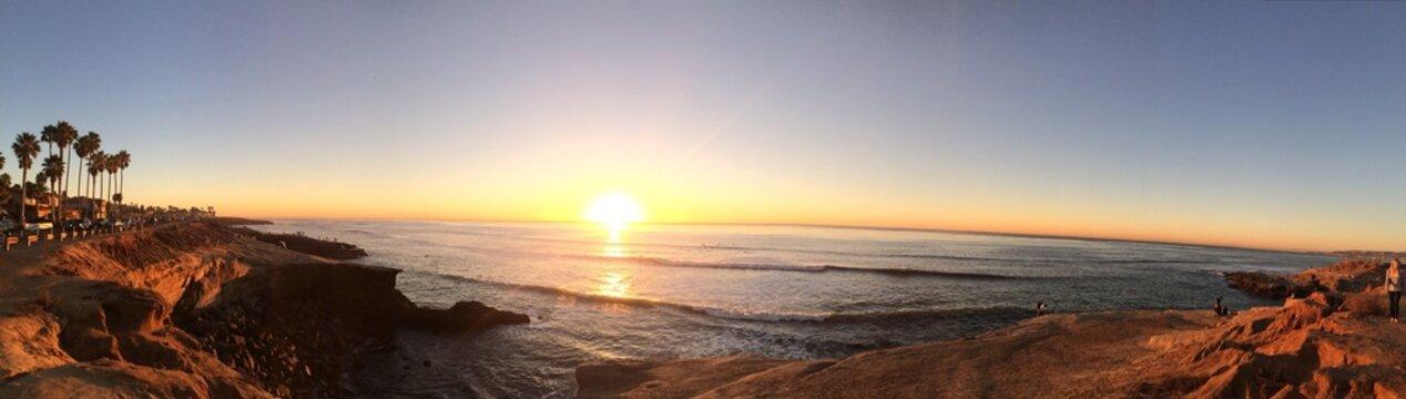 Sun Diego Sunset Cliffs