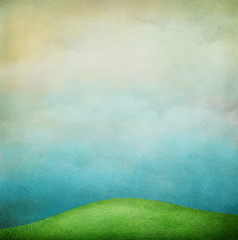 Pastel textured background with lawn.