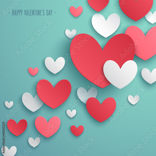 Wall mural Valentine`s Day abstract background. Vector illustration.