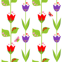 Funny spring wallpaper with tulip
