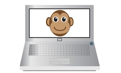 Laptop and Monkey
