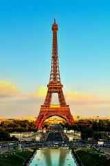Eiffel Tower At Sunset From Trocadero Palais de Chaillot