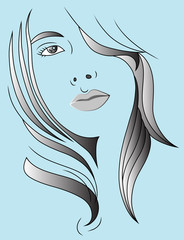 hair style vector illustration