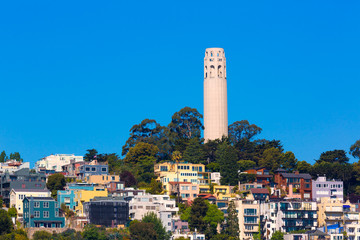Fototapete - Coit Tower San Francisco California