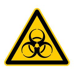 wso22 WarnSchildOrange - english warning sign: caution biohazard - German Warnschild: Warnung vor Biogefährdung - g431