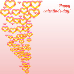 Valentine`s day colorful