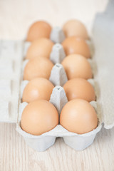 Ten eggs in carton