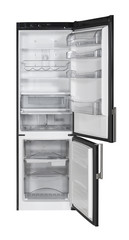 Two door refrigerator isolated on white with clipping path.