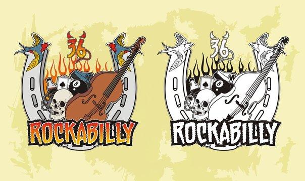 Tattoo rockabilly print